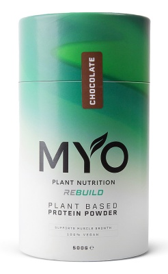 MYO Plant Nutrition REBUILD Protein Powder Chocolate 500g